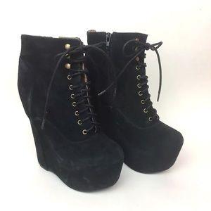 Jeffrey Campbell damsel platform heeled bootie